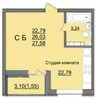 """планировка квартиры в ЖК """"Славянка"""""""