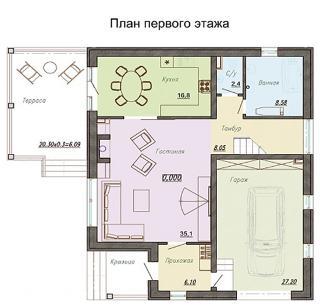 """дом в КП """"Лазурный берег"""""""