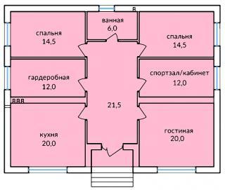 """дом в КП """"Российский"""""""