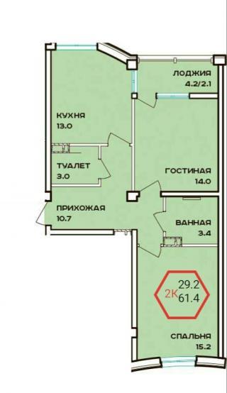 """планировка квартиры в ЖК """"Барселона"""""""